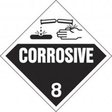 CORROSIVE TRUCK PLACARD TP-C-M